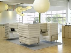 these are used allsteel cubicles setup in a 75 x 65 x 53 configuration best office cubicle design