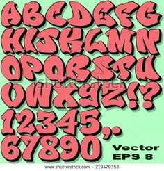 Alphabet Set of Graffiti Letters and Numbers. – Vector EPS Alphabet Set of Graffiti Letters and Numbers. Grafitti Letters, Graffiti Alphabet Styles, Graffiti Lettering Alphabet, Graffiti Font, Graffiti Drawing, Graffiti Styles, Street Art Graffiti, Calligraphy Alphabet, Graffiti Artists