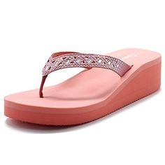 c1720c2b70b Cammie Women Wedge Thong Sandal With Cut Out Stud Straps Clog Sandals