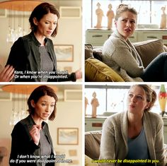 """I would never be disappointed in you"" - Kara and Alex #Supergirl"