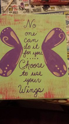 Hand painted canvas with inspirational quote by MadewithlovebyCathy on Etsy