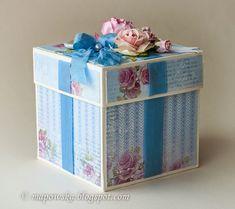 Witajcie w niedzielne popołudnie!   Dziś mam do pokazania słodkie eksplodujące pudełko przeznaczone dla małej dziewczynki, które dziś inspir...