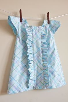 Little girls ruffled dress diy