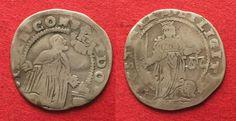 1676-1684 Italien - Venedig VENICE 1/2 Liretta (10 Soldi) ALVISE CONTARINI 1676-84 silver F-VF # 94863 F-VF