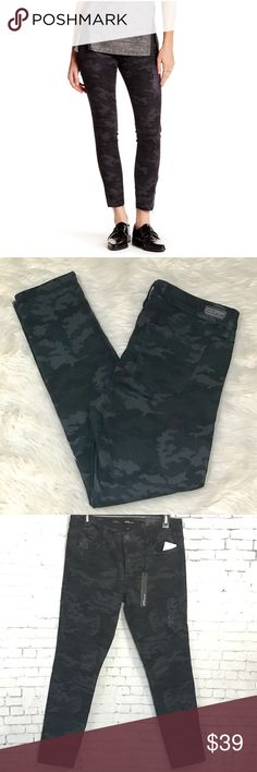"""See Thru Soul Alice Skinny Ankle Camo Jeans 28&29 These are super cute!  Black, grey, navy, and forest Camo. 98% Cotton, 2% spandex. Distressing on front pocket and one thigh. Waist measures 16.25"""" across on 28, 16.75"""" on 29. 9.5"""" rise. 28"""" inseam. Note: in model pic, they let the hems down which is an option. Brand new with tags. STS Blue Jeans Skinny"""