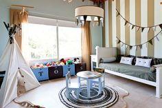 Cuarto de chicos: un dormitorio que contempla el porvenir | ESPACIO LIVING Ideas Para, Interior And Exterior, Kids Room, Colours, Home Decor, Brother, Bedrooms, Room Girls, Game Room