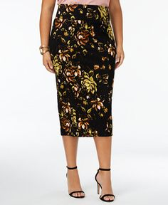 bdfefcf334 Melissa McCarthy Seven7 Trendy Plus Size Printed Pencil Skirt & Reviews -  Skirts - Plus Sizes - Macy's