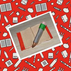 agrafa caiet si creion