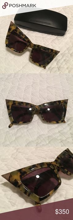 Alexander Wang Pointed Gold Tip Tortoise Shades 😎 Alexander Wang high fashion sunglasses. I purchased these at Barneys New York about 7years ago after seeing them on the runway and falling in love. Been collecting them ever since, but never worn. Perfect for the fashionista that likes to stand out in a crowd and make a statement with what she wears. Enjoy! Alexander Wang Accessories Sunglasses