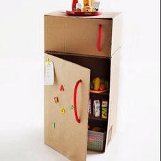 Cardboard fridge