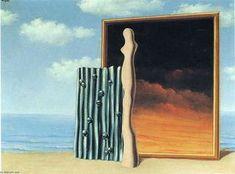 Rene Magritte - Composition sur un bord de mer