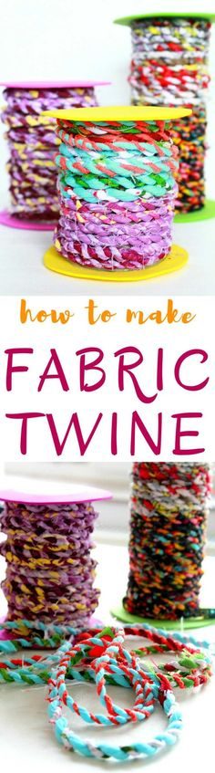 DIY FABRIC TWINE - Do you have too many fabric scraps? Clean up your basket and put all those scraps to a good use with this delightful tutorial on making fabric twine. #fabric #fabriclove #sewing #sewingproject #sewingblogger #crafts #craftsposure #craftsupplies #sewingsupplies #scraps