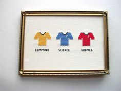 Star Trek Cross Stitch  The Doomed Red-Shirt- This is perfect!!