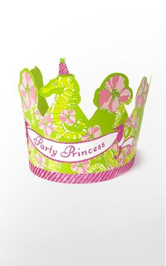 lilly pulitzer party princess crown