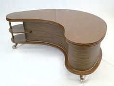 1950's/1960's Atomic Boomerang coffee table flip-top