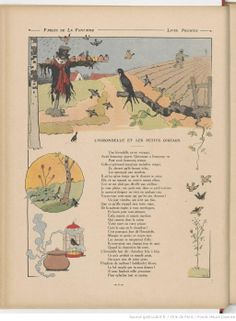 Illustration des fables de la Fontaine - L'Hirondelle et les petits oiseaux  - source BNF - Gallica Beatrix Potter, Benjamin Rabier, Bnf, Vintage World Maps, Date, Paris, Little Birds, Prints, Storytelling