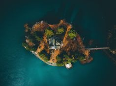 A tiny island, seen from above, sits in one of Sweden's nearly 100,000 lakes in this National Geographic Photo of the Day.