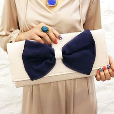 Hey, I found this really awesome Etsy listing at https://www.etsy.com/listing/103689675/navy-organza-bow-clutch-ready-to-ship