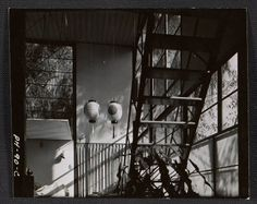 Eames House Studio: staircase view Archives of American Art, Smithsonian Institution