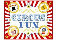 free circus birthday party printable sign