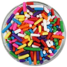 - Classic jimmies sprinkles in bright rainbow have a soft texture and are perfect for topping cupcakes, cookies, sundaes and other sweet treats. - 4 Ounces
