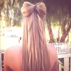Bow made of hair I wouldn't think Court would like this but she asked for it recently