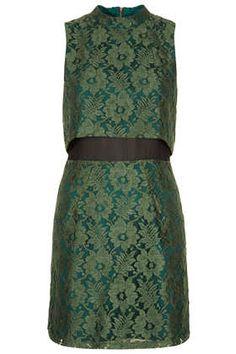 Sleeveless Crop Lace Dress
