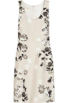 Giambattista Valli Floral-print silk-shantung dress   NET-A-PORTER