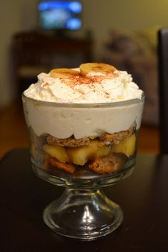 Bananas Foster Trifle | Just Putzing Around the Kitchen