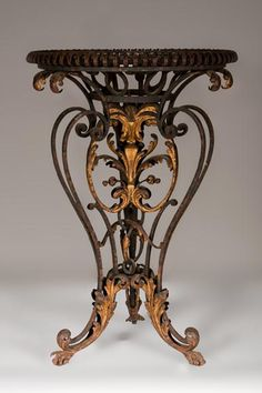 Louis XV period brazier made out of gilt wrought iron
