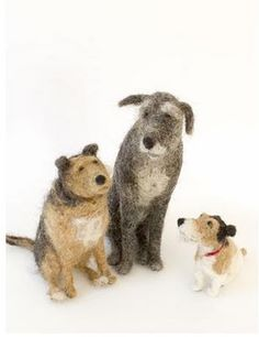 felted dogs by domenica more gordon...I want to learn how to make these!!!