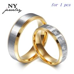 Cheap bague homme, Buy Quality mens promise rings directly from China couple wedding rings Suppliers: Romantic High-Grade Gold Titanium Steel Set Auger Women And Men Promise Ring The Couple Wedding Rings Anillos Mujer Bague Homme Promise Rings For Couples, Couple Rings, Wedding Rings For Women, Wedding Ring Bands, Wedding Men, Wedding Ideas, Luxury Wedding, Summer Wedding, Wedding Venues