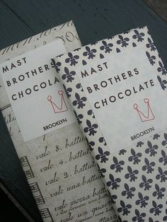Perfect in every sense. Mast Brothers Chocolate, Brooklyn.