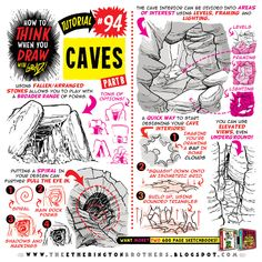 Today's tutorial is PART TWO of how to THINK when you draw CAVES! I recommend combining this with my How to draw ROCK FORMATIONS, How to draw IN 3D and How to draw FOREGROUND MIDGROUND AND BACKGROUND tutorials If you want to know how to draw LOADS...