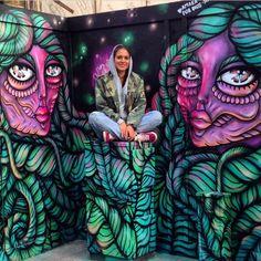 Amara Por Dios with her work, Miami, 2014 (LP)
