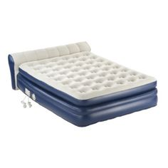 Serta ez bed queen size on legs frame this air bed has 2 pumps in one mattress read more - Matelas gonflable walmart ...