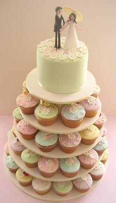 Pastel de cupcakes.
