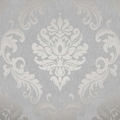 Henderson Interiors Chelsea Glitter Damask Wallpaper Soft Grey / Silver H980504 | Home & Garden, Home Improvement, Building & Hardware | eBay!