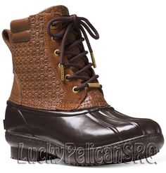 Michael Michael Kors' Easton booties are a fashionable take on the foot-friendly duck boot. Signature Mk embossing elevates this dependable silhouette. Michael Kors Boots, Handbags Michael Kors, Clothing Subscription Boxes, Lace Up Booties, Duck Boots, Hiking Boots, Combat Boots, Shoe Boots, Nordstrom