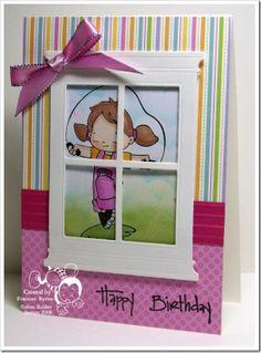 cute idea...maybe use a photo window wm, alota86 window, window die, window card