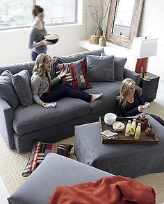 Petrie 2-Piece Sectional Sofa in Sectional Sofas | Crate and Barrel