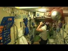 Washing Hair in Zero Gravity - Space tourist Anousheh Ansari washes her hair aboard the ISS