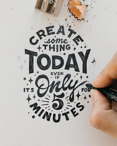 STEFAN KUNZ( A 5 minute run is better than no run. It's something I remind myself to stop making excuses,… 」 Hand Lettering Quotes, Calligraphy Quotes, Creative Lettering, Script Lettering, Lettering Styles, Typography Quotes, Typography Letters, Brush Lettering, Lettering Design
