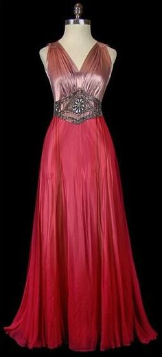 The Me I Saw | Evening dress by Gilbert Adrian, late 1920s-early...