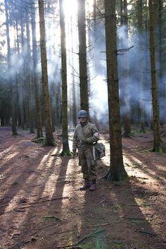 Bastogne 1944 : Doc in Easy's woods (Re-eneactment)