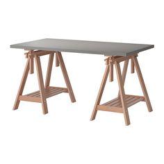LINNMON/FINNVARD Table, gris, hêtre gris/hêtre 150x75 cm 85€ Bureau