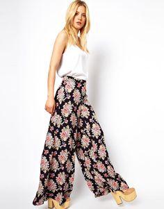 ASOS Wide Leg Pants in Vintage Floral