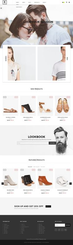 Elara is neat and clean black and white design responsive WordPress theme for multipurpose WooCommerce eCommerce website. #webdesign #onlineshop Download Now!