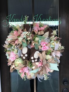 A personal favorite from my Etsy shop https://www.etsy.com/listing/570765942/bunny-butt-easter-wreath