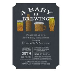 baby is brewing shower invitation - baby shower - coffee or tea, Baby shower invitations